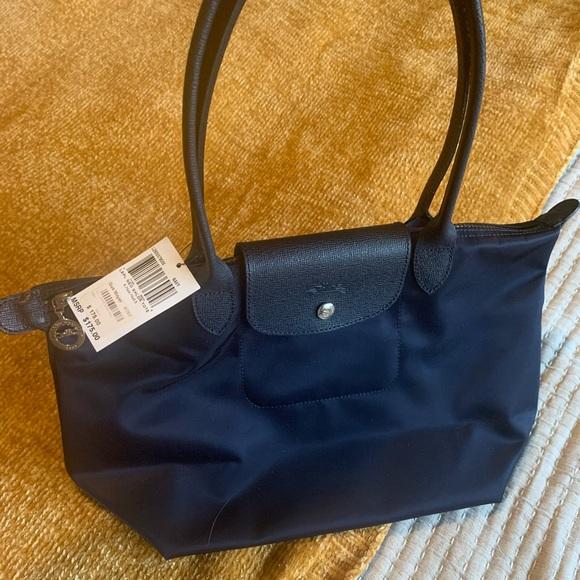 Longchamp Le Pliage Neo navy blue small